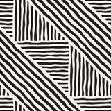 Seamless geometric doodle lines pattern in black and white. Adstract hand drawn retro texture. Seamless geometric doodle pattern in black and white. Adstract royalty free illustration