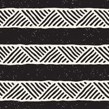 Seamless geometric doodle lines pattern in black and white. Adstract hand drawn retro texture. Seamless geometric doodle pattern in black and white. Adstract stock illustration