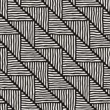 Seamless geometric doodle lines pattern in black and white. Adst. Seamless geometric doodle pattern in black and white. Adstract hand drawn lines retro texture vector illustration