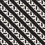Seamless geometric lines pattern in black and white. Adstract hand drawn retro texture. Seamless geometric doodle pattern in black and white. Adstract hand stock illustration