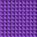 Seamless geometric embossed pattern. Seamless pattern made of relief or embossed geometric triangles in square formation, with the purple tones giving it depth Royalty Free Stock Image