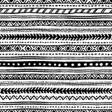 Seamless geometric ethnic pattern. Black and white. Seamless geometric ethnic pattern. Black and white vector illustration Royalty Free Stock Photography