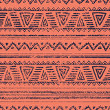Seamless geometric ethnic pattern. Vector illustration. Drawing by hand Stock Photography