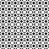 Seamless geometric ethnic tribal Islamic Arabic pattern vector design abstract background art black and white. Oriental Royalty Free Stock Images
