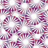 Seamless geometric floral background Stock Photo