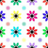 Seamless geometric floral flower pattern vector abstract background design colorful art. Nature Royalty Free Stock Images