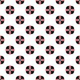 Seamless geometric floral flower pattern vector background abstract design art black and red Royalty Free Stock Photography