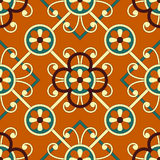 Seamless geometric floral pattern Stock Photography