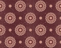 Seamless geometric floral pattern royalty free illustration