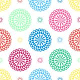 Seamless geometric floral pattern vector background design abstract art with oriental Arabic flower looking colorful shapes Royalty Free Stock Images