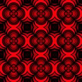Seamless geometric floral pattern vector background design art with rose flower looking 3D like shapes red black. Nature royalty free illustration