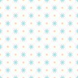 Seamless geometric floral pattern. Vector illustration Royalty Free Illustration