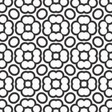 Seamless geometric flower design pattern Royalty Free Stock Photography