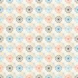 Seamless geometric flower pattern Royalty Free Stock Photography