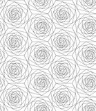 Seamless geometric flowers pattern. Vector illustration Stock Image
