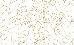 Seamless geometric. Golden background. Vector seamless. Golden texture. Geometric background with triangle. Gold stock illustration
