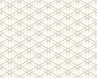 Seamless geometric golden lines pattern. Modern design background with rhombus. Golden texture. Seamless geometric golden lines pattern. Modern design stock illustration