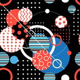 Seamless geometric graphic pattern Royalty Free Stock Images