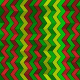 Seamless geometric green, red and yellow pattern Stock Photo