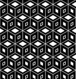 Seamless geometric pattern. 3D illusion. Seamless geometric hexagons and diamonds pattern. 3D illusion. Vector art vector illustration