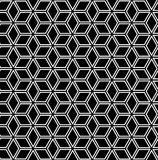 Seamless geometric pattern. Seamless geometric hexagons and diamonds pattern. 3D illusion. Vector art royalty free illustration