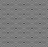 Seamless geometric pattern. 3D illusion. Royalty Free Stock Images