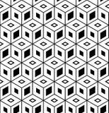 Seamless geometric pattern. 3D illusion. Seamless geometric hexagons and diamonds pattern. 3D illusion. Vector art royalty free illustration