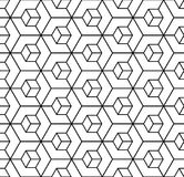 Seamless geometric hexagons pattern. 3D illusion. Stock Images