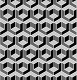 Seamless geometric pattern. 3D illusion. Seamless geometric hexagons pattern. 3D illusion. Vector art stock illustration