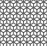 Seamless geometric hexagons pattern. 3D illusion. Vector art royalty free illustration