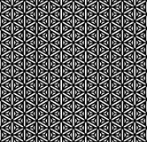 Seamless geometric Hexagons, triangles and stars t royalty free illustration