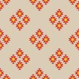 Seamless geometric ikat pattern stock illustration