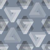 Seamless geometric imagination pattern Royalty Free Stock Images