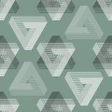 Seamless geometric imagination pattern Royalty Free Stock Photos