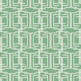 Seamless geometric intricate pattern of multiple bent lines. Mint green and white colors Stock Photos