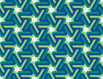 Seamless geometric Islamic ornament with hexagonal stars Stock Images