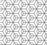 Seamless geometric isometric pattern. 3D illusion. Vector art Stock Photos