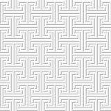 Seamless geometric key pattern Stock Images
