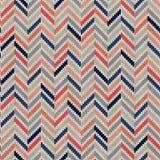 Seamless geometric knitted pattern Royalty Free Stock Photo