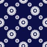 Seamless geometric lace elements pattern illustration pattern Royalty Free Stock Photo