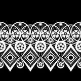 Seamless geometric lace elements pattern ornamental pattern Stock Image