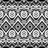 Seamless geometric lace elements pattern ornamental pattern Royalty Free Stock Photography