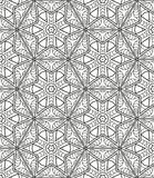 Seamless geometric line pattern in arabian style, ethnic ornament. Stock Image