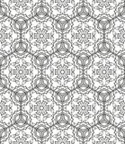 Seamless geometric line pattern in arabian style, ethnic ornament. Stock Images