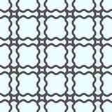 Seamless geometric line pattern in arabic style. Repeating linear texture for wallpaper, packaging, banner, invitation, business c. Ard, fabric print. Black royalty free illustration