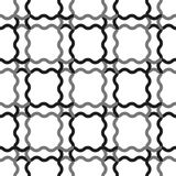 Seamless geometric line pattern in arabic style. Repeating linear texture for wallpaper, packaging, banner, invitation, business c. Ard, fabric print. Black stock illustration