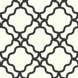 Seamless geometric line pattern in arabic style. Repeating linear texture for wallpaper, packaging, banner, invitation, business c. Ard, fabric print. Black vector illustration