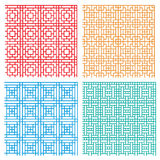 Seamless geometric line pattern in Asian style Royalty Free Stock Image