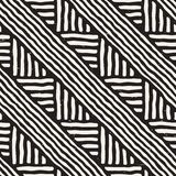 Seamless geometric lines pattern in black and white. Adstract hand drawn retro texture. Seamless geometric doodle pattern in black and white. Adstract hand royalty free illustration