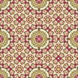 Seamless geometric mandala pattern Stock Image